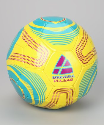 Yellow & Blue Pulsar Soccer Ball