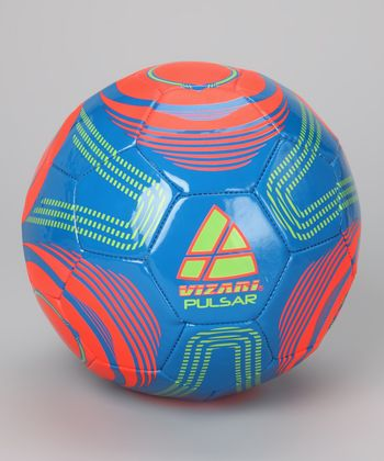 Blue & Orange Pulsar Soccer Ball