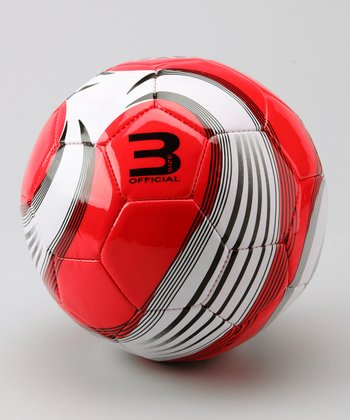 Red & White Astro Soccer Ball