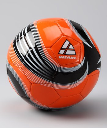 Orange & Black Astro Soccer Ball
