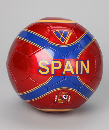 Red Spain Soccer Ball
