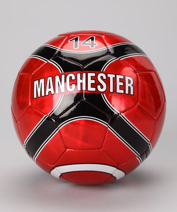 Red Manchester Soccer Ball