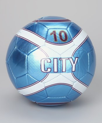 Sky Blue City Soccer Ball