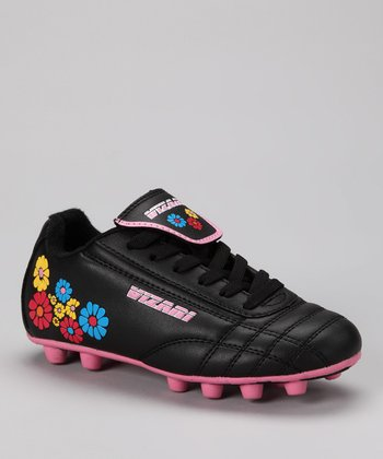 Black & Pink Blossom Cleat - Kids