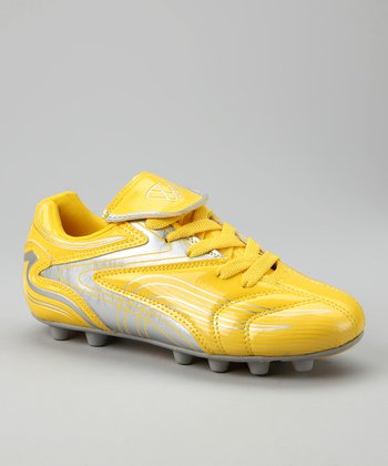 Yellow & Silver Striker FG Cleat