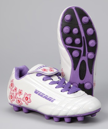 White & Purple Magnolia Cleat - Kids