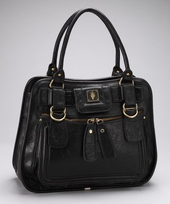 Black City Center Satchel