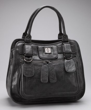 Gray City Center Satchel