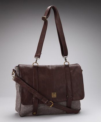 Brown Newbury Messenger Bag