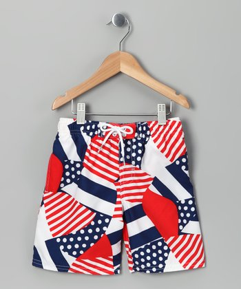 Flag Swim Trunks - Toddler