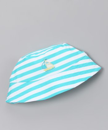 Pool Blue Stripe Sunhat