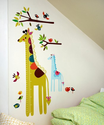 Giraffe Growth Chart Wall Decal Set