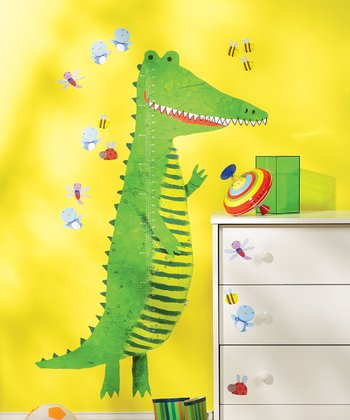 Crocodile Growth Chart Wall Decal Set