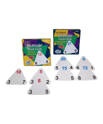 Triangle Math Flash Card Set