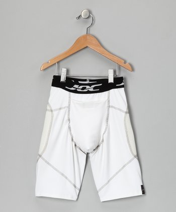 White Ultrajoc Slider Shorts - Boys