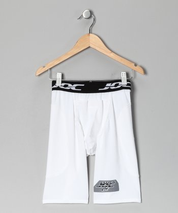 White Ultra Lite Slider Shorts - Boys