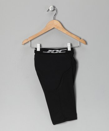 Black 6-Pocket Padded Shorts - Boys