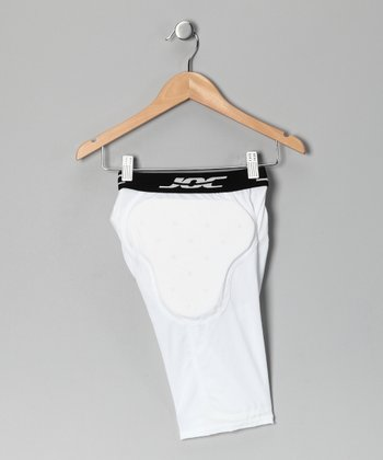 White 6-Pocket Padded Shorts - Boys