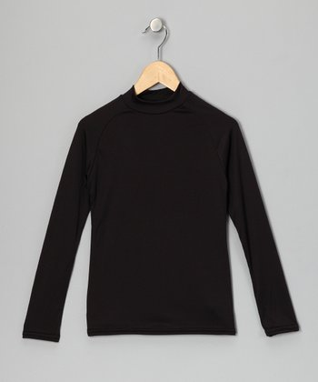 Black Microtech Long-Sleeve Top - Boys