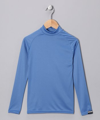 Columbia Blue Microtech Long-Sleeve Top - Boys