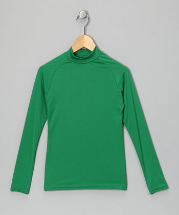 Kelly Green Microtech Long-Sleeve Top - Boys