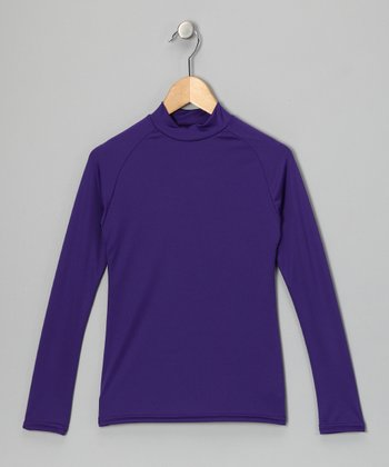 Purple Microtech Long-Sleeve Top - Boys
