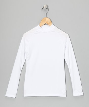 White Microtech Long-Sleeve Top - Boys