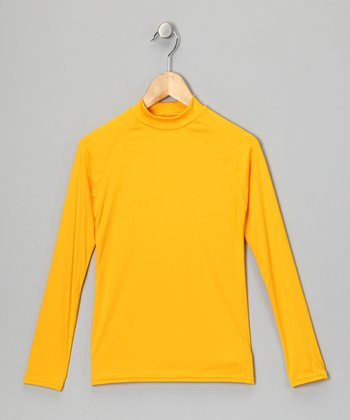 Yellow Gold Microtech Long-Sleeve Top - Boys