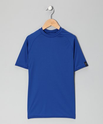 Royal Blue Microtech Form-Fit Short-Sleeve Top - Boys