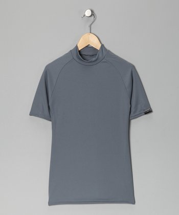 Silver Microtech Form-Fit Short-Sleeve Top - Boys