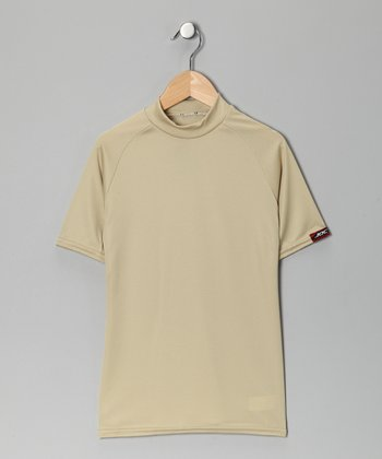 Vegas Gold Microtech Form-Fit Short-Sleeve Top - Boys
