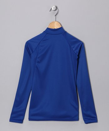 Royal Blue Arctic Microtech Long-Sleeve Top - Boys