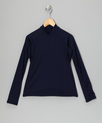 Navy Blue Arctic Microtech Long-Sleeve Top - Boys
