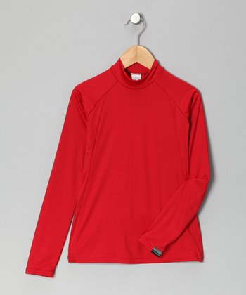 Red Arctic Microtech Long-Sleeve Top - Boys