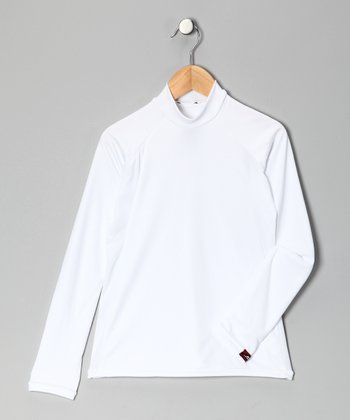 White Arctic Microtech Long-Sleeve Top - Boys