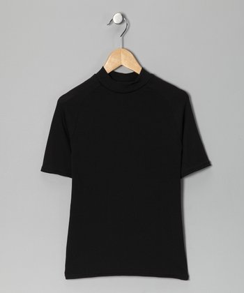 Black Wikmax® Short-Sleeve Top - Boys