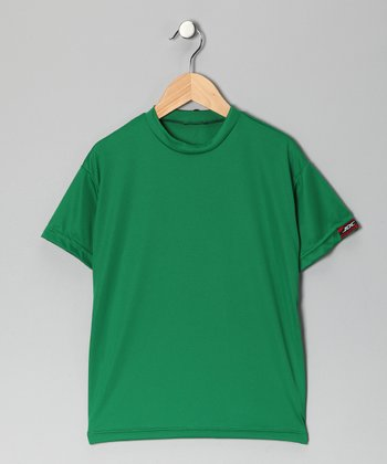 Kelly Green Microtech Loose Short-Sleeve Top - Boys