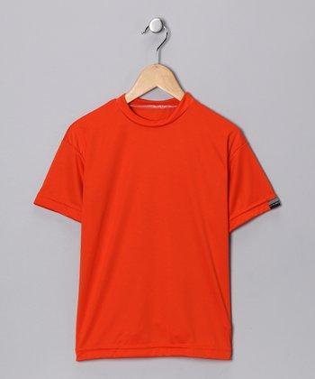 Orange Microtech Loose Short-Sleeve Top - Boys