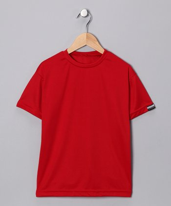 Scarlet Microtech Loose Short-Sleeve Top - Boys