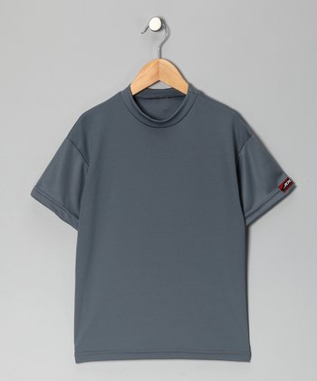 Silver Microtech Loose Short-Sleeve Top - Boys