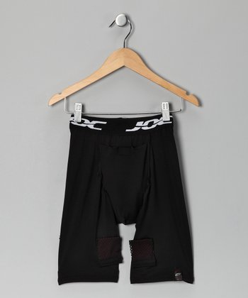 Black Hockey Cup Joc Shorts - Boys