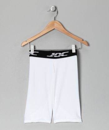 White Compression Shorts - Boys