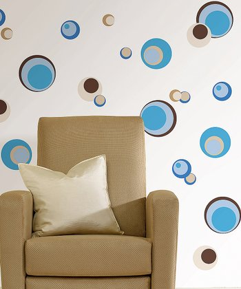 Blue Spheres Wall Decal Set