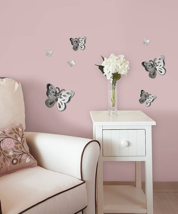 Butterfly 3-D Mirror Wall Decal Set