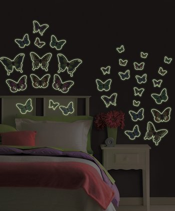 Glow-in-the-Dark Butterfly Wall Decal Set