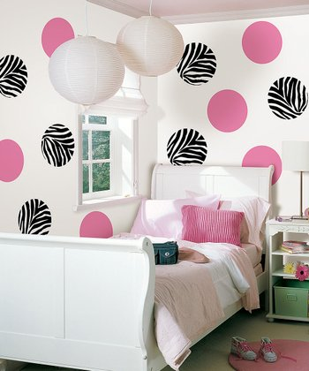 Pink Go Wild & Flirt Wall Decals Set