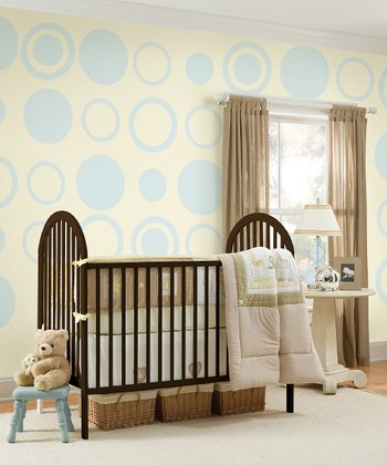 Baby Blue Dot & Concentric Dot Wall Decals Set