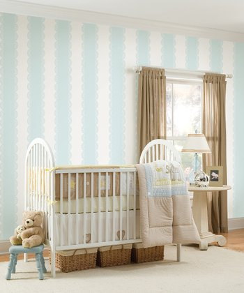 Baby Blue Stripe Wall Decals Set