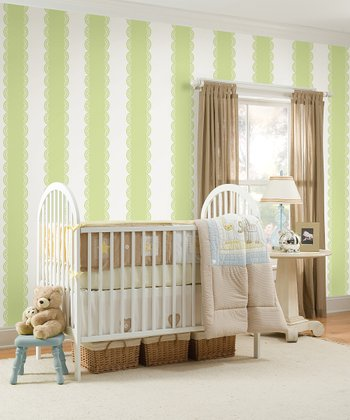 Pea Pod Stripe Wall Decals Set