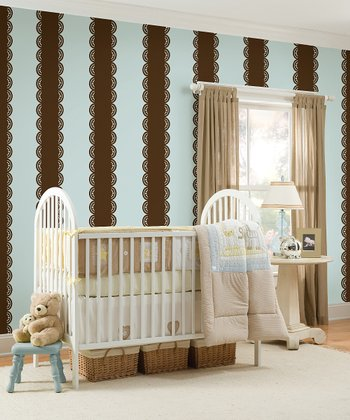 Espresso Stripe Wall Decals Set